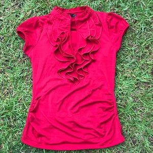 Heart Soul red short sleeves blouse Sz L